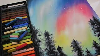 Northern Lights (Aurora Borealis) | PASTEL SPEED PAINTING (HD)