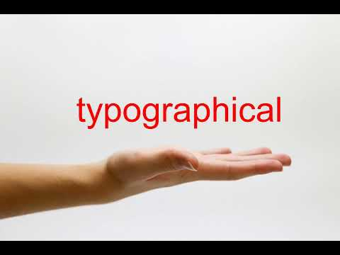 How to Pronounce typographical - American English