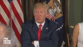 President Trump makes statement on North Korea nuclear weapon development