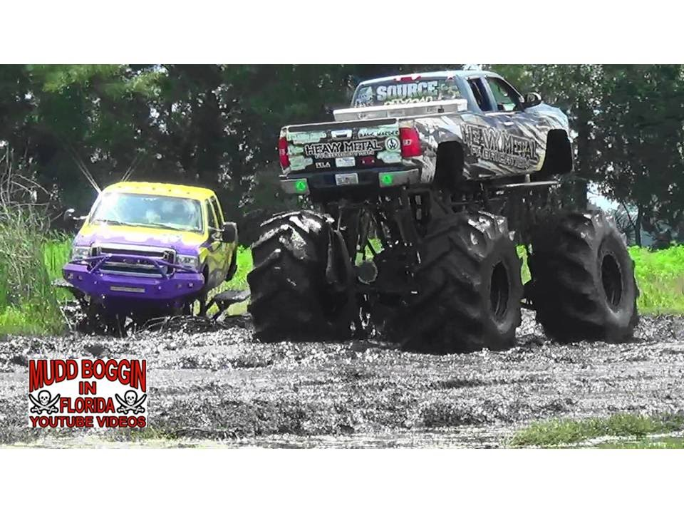 Monster Truck Lucifer Gets Stuck In A Deep Mud Hole Youtube