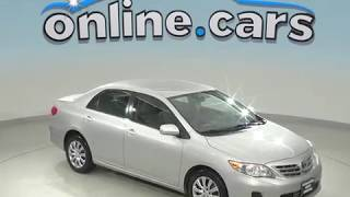 R99076JP Used 2013 Toyota Corolla FWD 4D Sedan Silver Test Drive, Review, For Sale