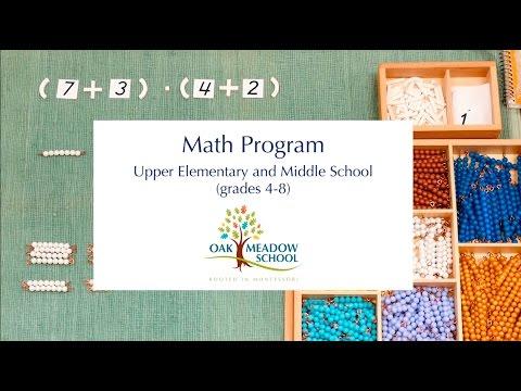 Oak Meadow School: Math - Upper Elementary and Middle School