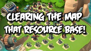 Boom Beach - Progression! MAXED OUT Armory & Shock Launcher, Map clearing!