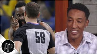 Scottie Pippen doesn't like how refs treated James Harden in Rockets vs. Warriors Game 1   The Jump