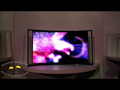 samsung 55 inch curved tv. samsung 55 inch curved oled hands-on tv