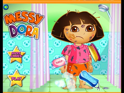 Little Baby Games Dora Baby Bathing Games Youtube
