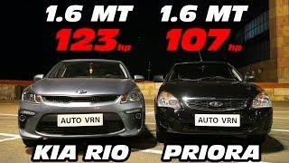 Как ТАКОЕ ВОЗМОЖНО?!?. PRIORA 2 vs KIA RIO 1.6 MT. ГОНКА