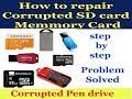 Repair corrupted memory card | Pendrive | sd card