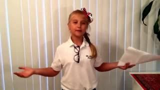 Sophia's Winning Speech for 3rd Grade Class Representative! A Must-watch!