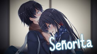 Nightcore - Señorita (Lyrics) | Shawn Mendes & Camila Cabello