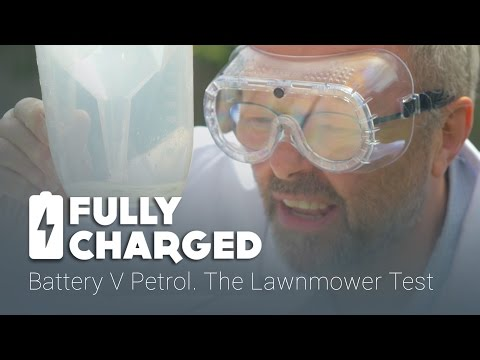 Battery V Petrol. The Lawnmower Test | Fully Charged