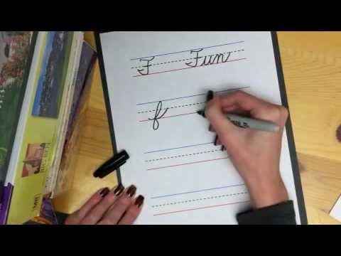 Learn Cursive Letter F