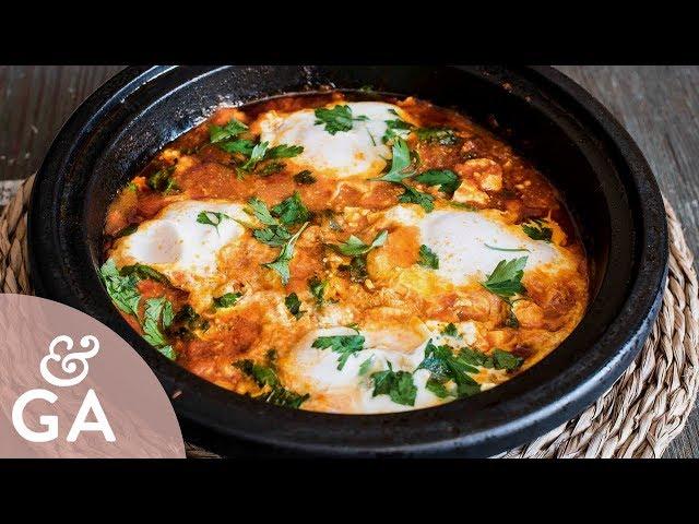 SHAKSHUKA   HUEVOS AL PLATO con queso feta 🍳   Receta Persa