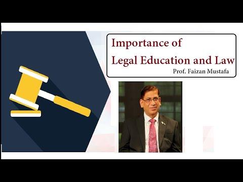 Importance of Legal Education and Law : Prof. Faizan Mustafa