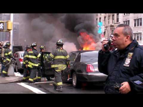 RAW Footage: Burning Car in NYC