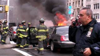 RAW Footage: Burning Car in NYC