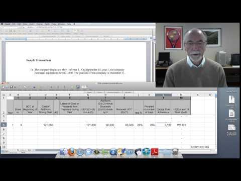 Capital Cost Allowance Calculation  #1