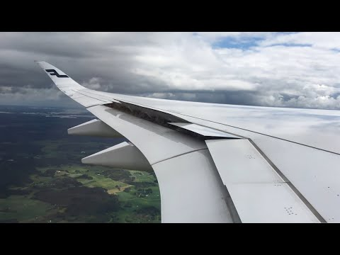 Finnair A350 HARD landing at Helsinki Airport