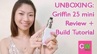 uNBOXING: Griffin 25 mini Review  Build Tutorial  couchwasabi vapes