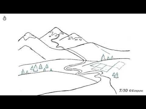Как нарисовать рисунок о природе