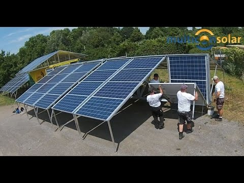 Solar Container (east- west) made by Multicon Solar