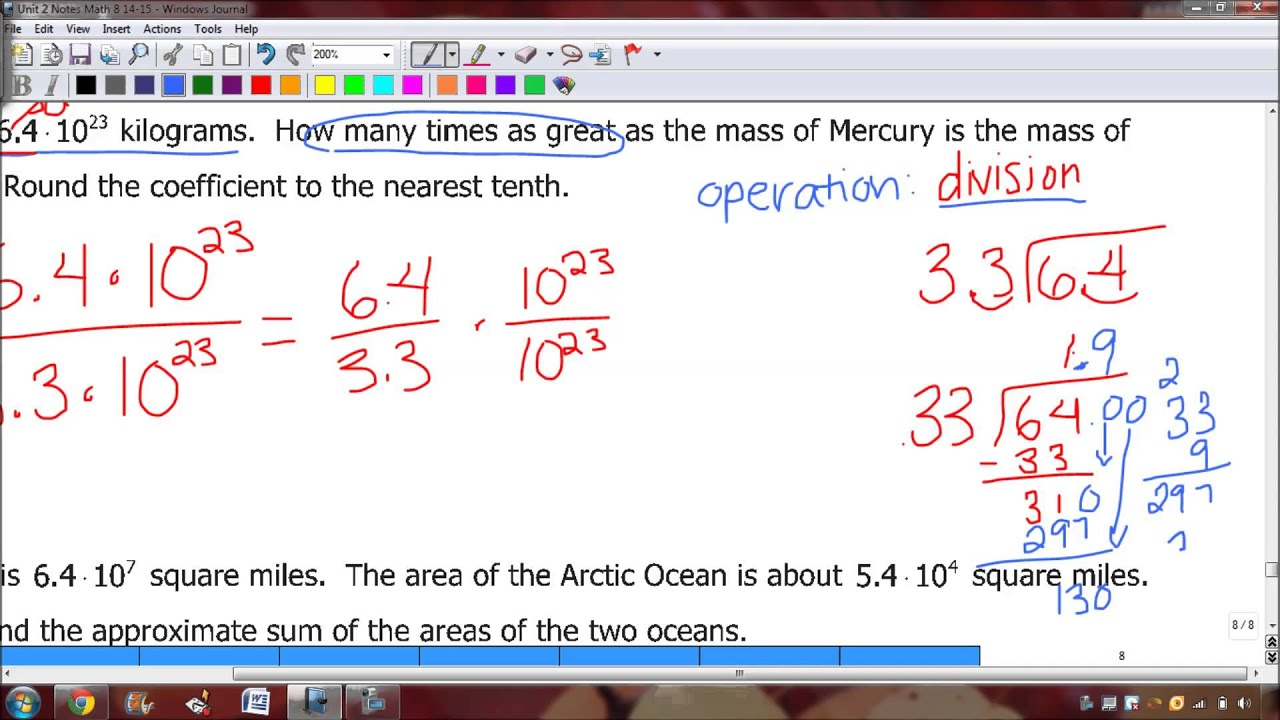 Video 2 5 Word Problems with Scientific Notation