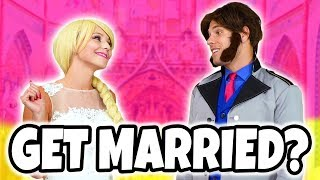 SHOULD ELSA AND HANS GET MARRIED? (With Anna, Moana, Jasmine, Belle, Adam, & Maleficent) Totally TV