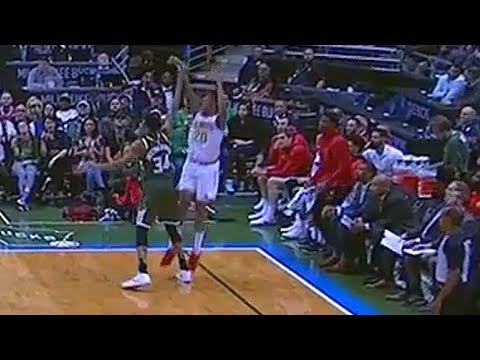 Giannis Antetokounmpo Injures John Collins Ankle Using Zaza Pachulia Close Out Move!