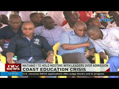 CS Fred Matiang'i to hold meeting with leaders from the Coast over admission