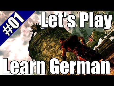 Let's Play And Learn German HD - Skyrim #01