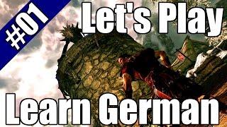 Let's Play and Leąrn German HD - Skyrim #01