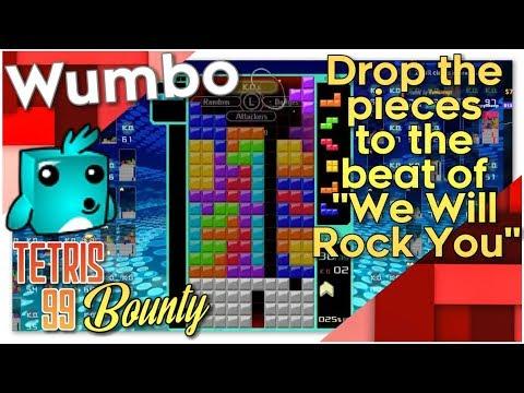 "Tetris 99 Bounty - ""Drop pieces to We Will Rock You"""