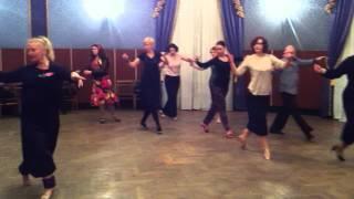 Женская техника с Эльвирой Малишевской по танго. Тема урока: Очо вперёд.