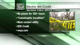 DTE credits for some affected by power outage