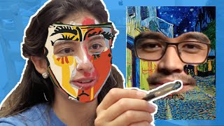 Painting our faces - Van Gogh & Picasso
