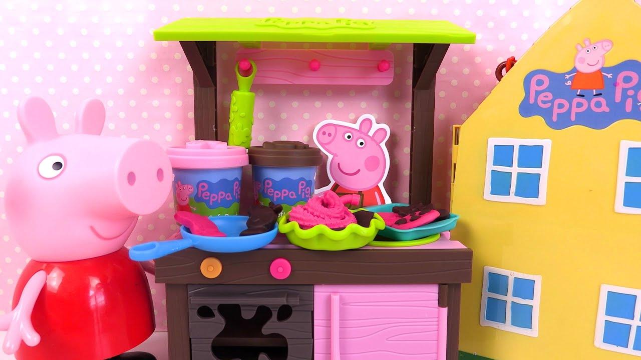 Cuisine de Peppa Pig Pâte à Modeler Mud Kitchen Dough Set