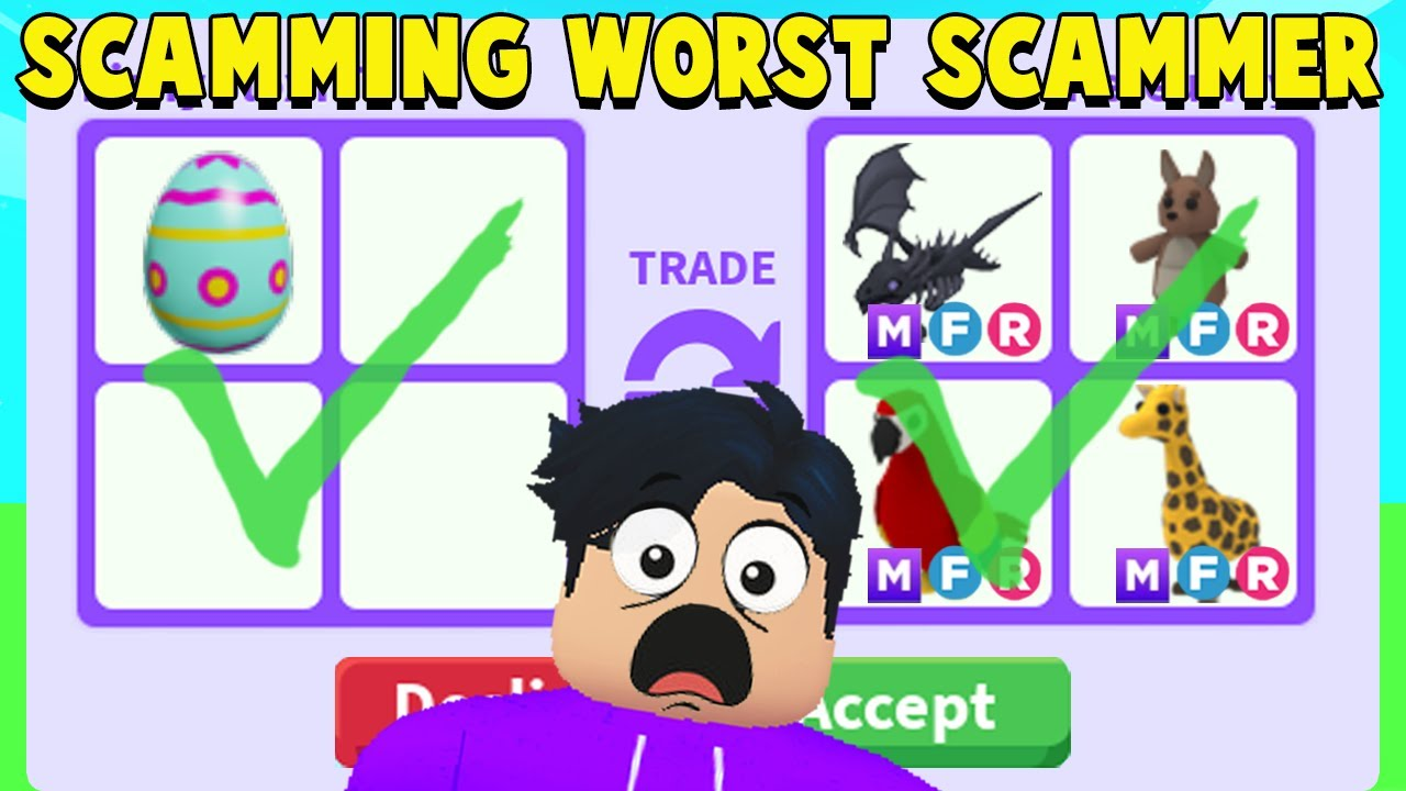 Download I SCAMMED the WORST SCAMMER in Adopt Me! (FAKE MEGA EGG)