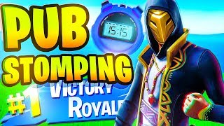 15 minutes 15 seconds of pub stomping in Fortnite...
