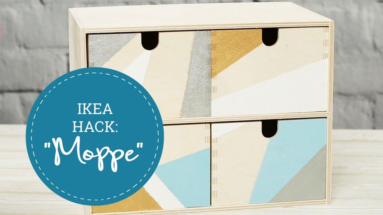 Ikea Hacks Minikommode Moppe Bemalen Youtube