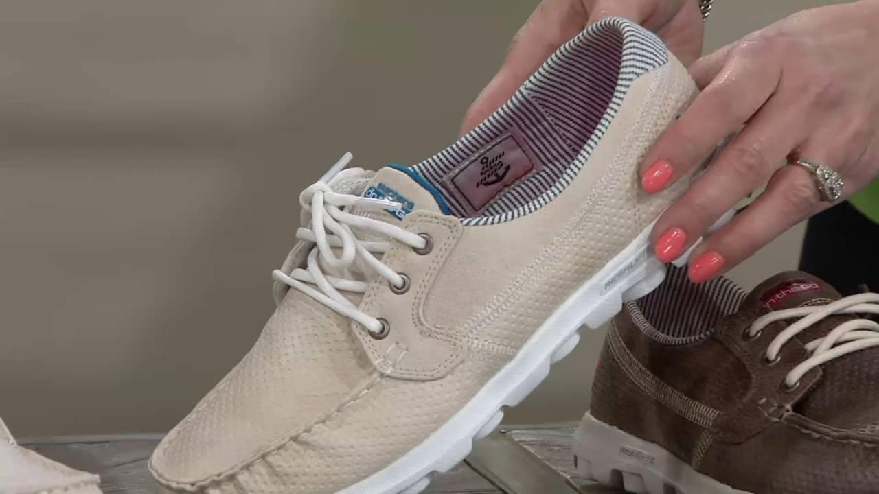mäßiger Preis günstig kaufen billiger Skechers On-the-GO Embossed Lace-up Boat Shoes - Tide on QVC