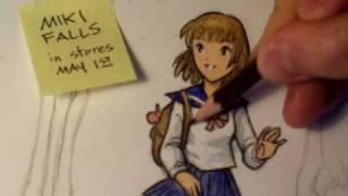 "How To Color & Ink Manga Illustrations, Pt. 2 (""Miki Falls"")"