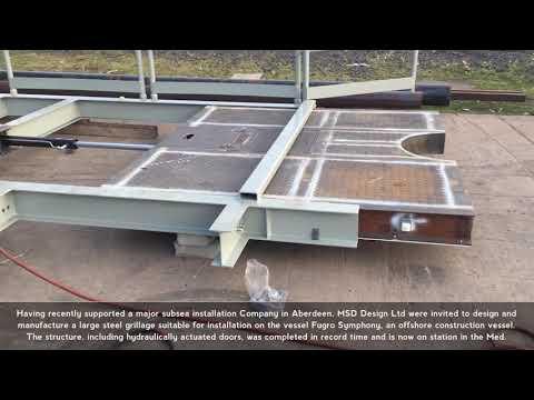 large steel grillage video MSD