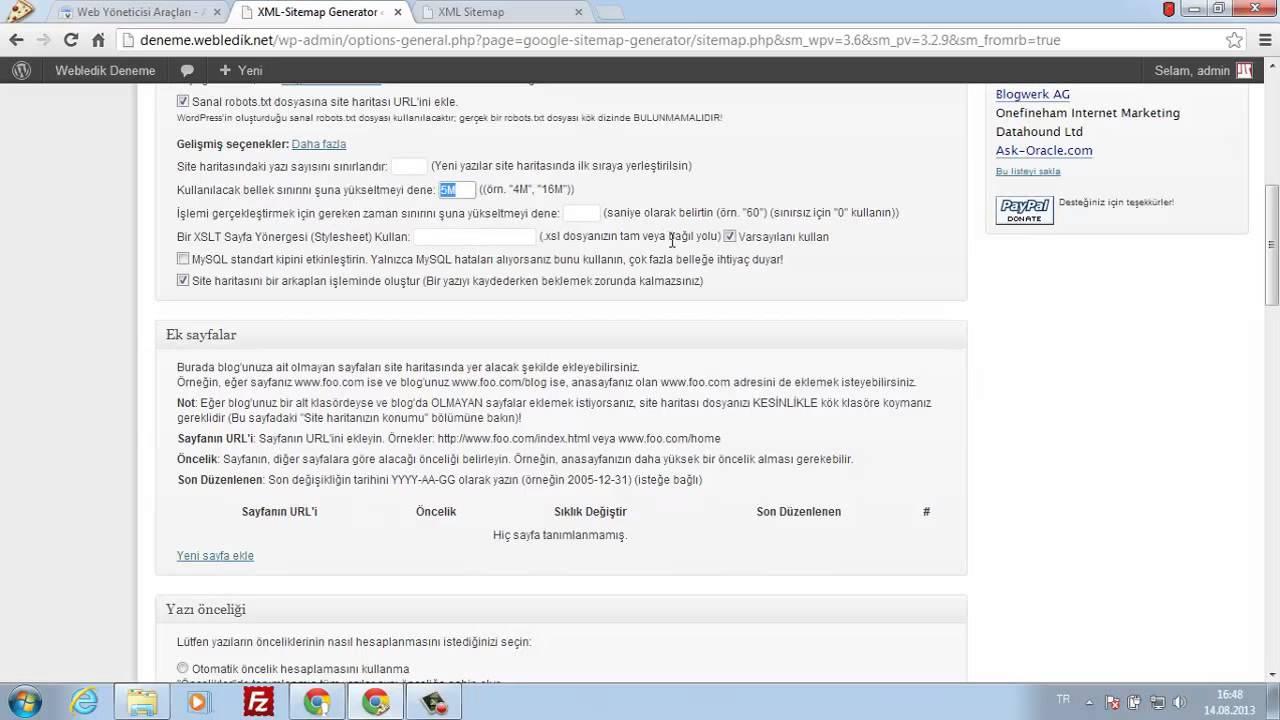 google xml sitemaps eklentisi kurulumu ve ayarları youtube
