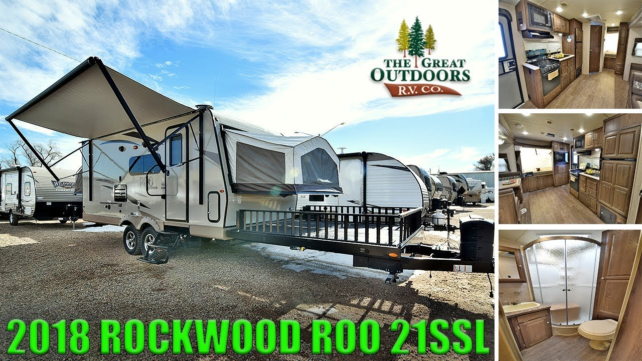 New 2018 Hybrid Toy Hauler Rockwood Roo 21ssl Camper