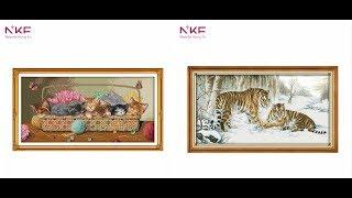 Вышивки крестиком кошки: рысь, котята, леопард, тигр и др.
