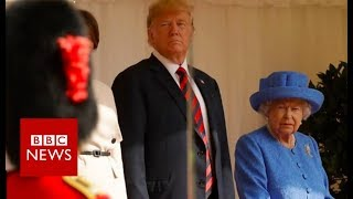 Trump: 'I was waiting 15 minutes for the Queen' - BBC News