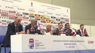 Фиеричная пресс-конференция Олега Знарка после поражения России от Чехии на ЧМ-2016