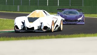 Apollo IE vs Lamborghini Egoista at Imola