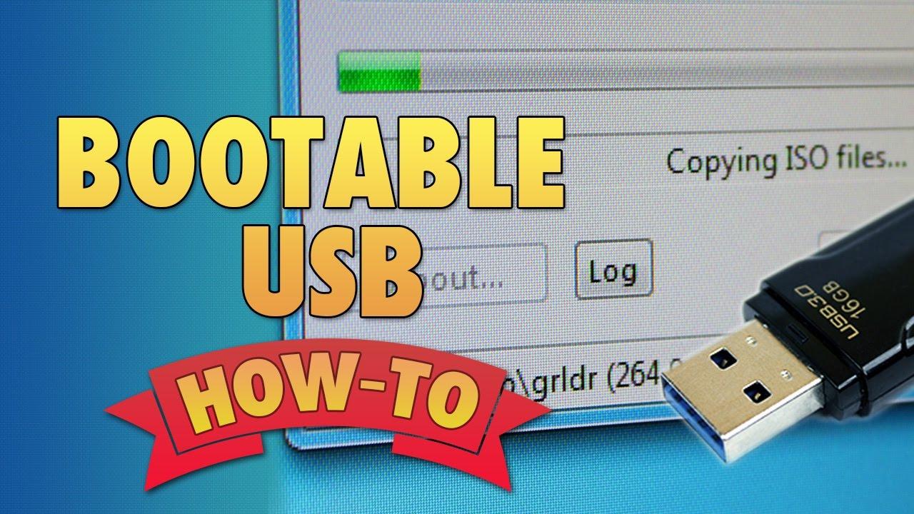 how to create a bootable usb sticks on windows