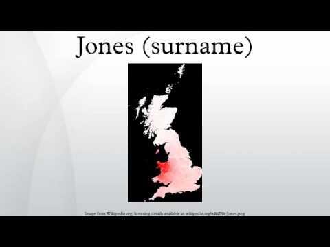 Jones (surname)